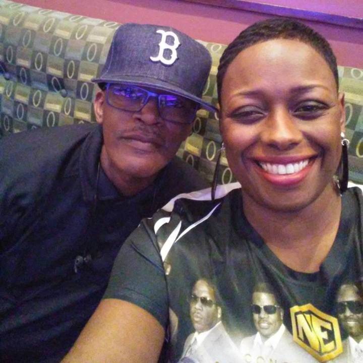 New Edition's Brook Payne and Katrina Terrell one of the fabulous twins who make the cruise every year!