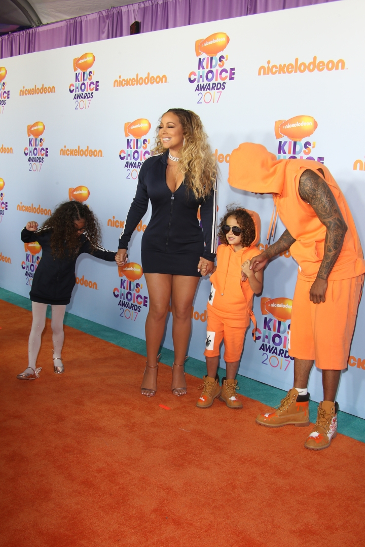 Mariah Carey and Nick Cannon and their kids