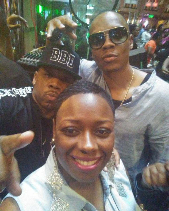 Ms. Katrina with Michael Bivins and Ronnie DeVoe.