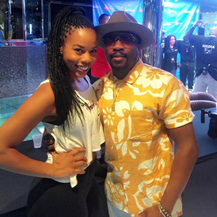 Brandee of HipHopandHeels with Anthony Hamilton.
