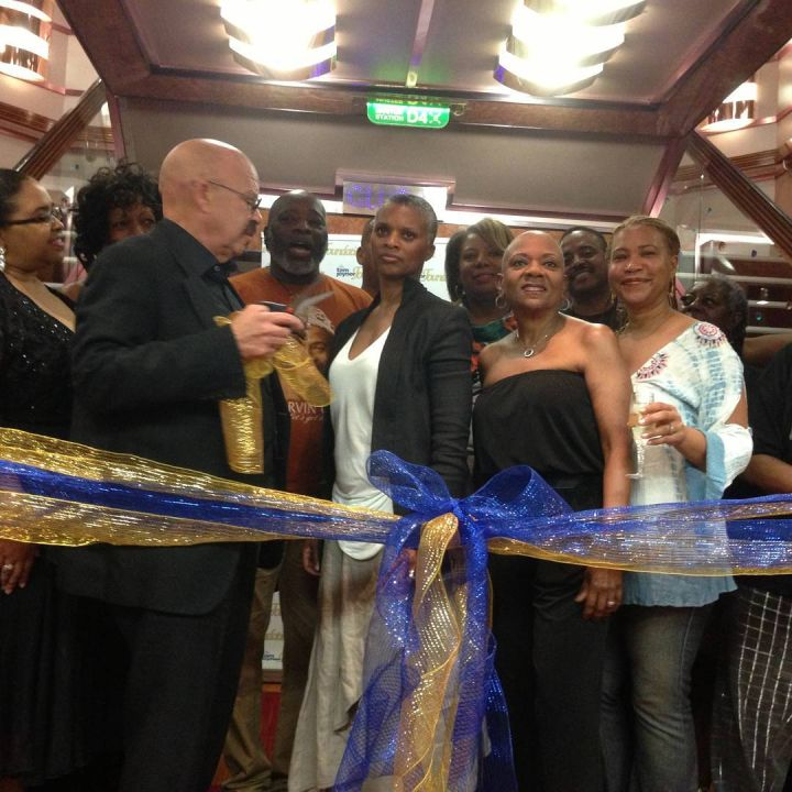 The ribbon cutting ceremony on the Fantastic Voyage Art Gallery opening.