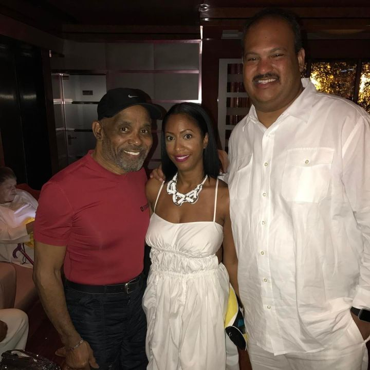 Radio One VIP Colby Colb Tyner with wife Simone Tyner and Frankie Beverly