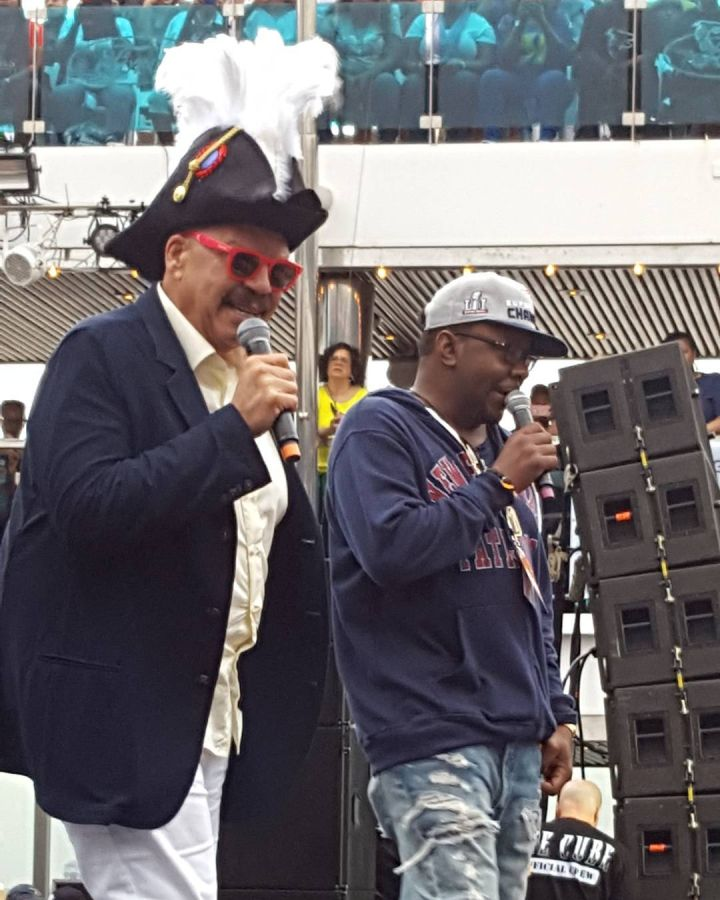 The captain of this vessel, Tom Joyner with Bobby Brown