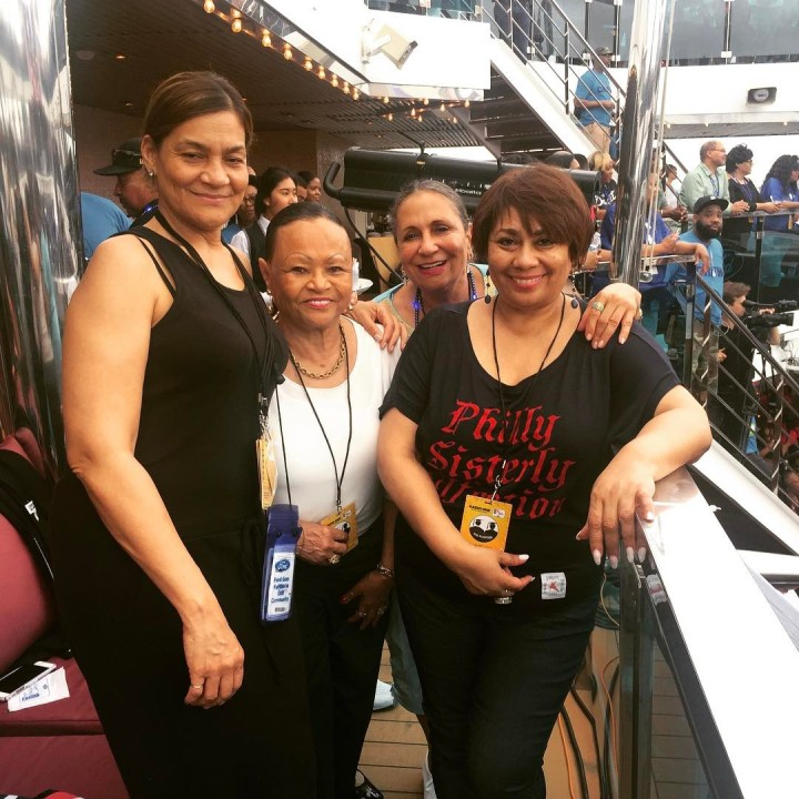 Radio and TV One founder Cathy Hughes (third from left) with friends Ayiko Broyard, Dr. Gloria James and Dyana Williams