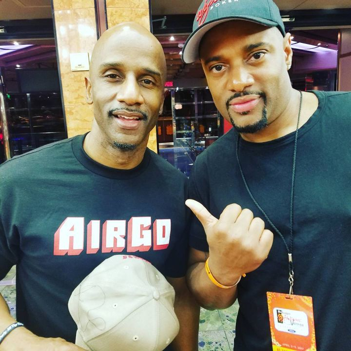 Damon Williams buddies up with actor Malik Whitfield