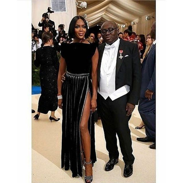 Naomi Campbell and British Vogue Editor-In-Chief Edward Enninful