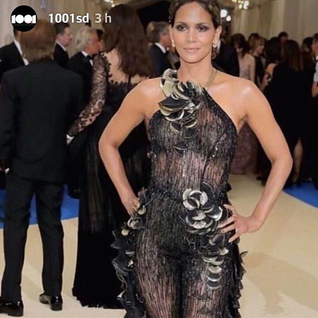 Halle Berry in Versace.