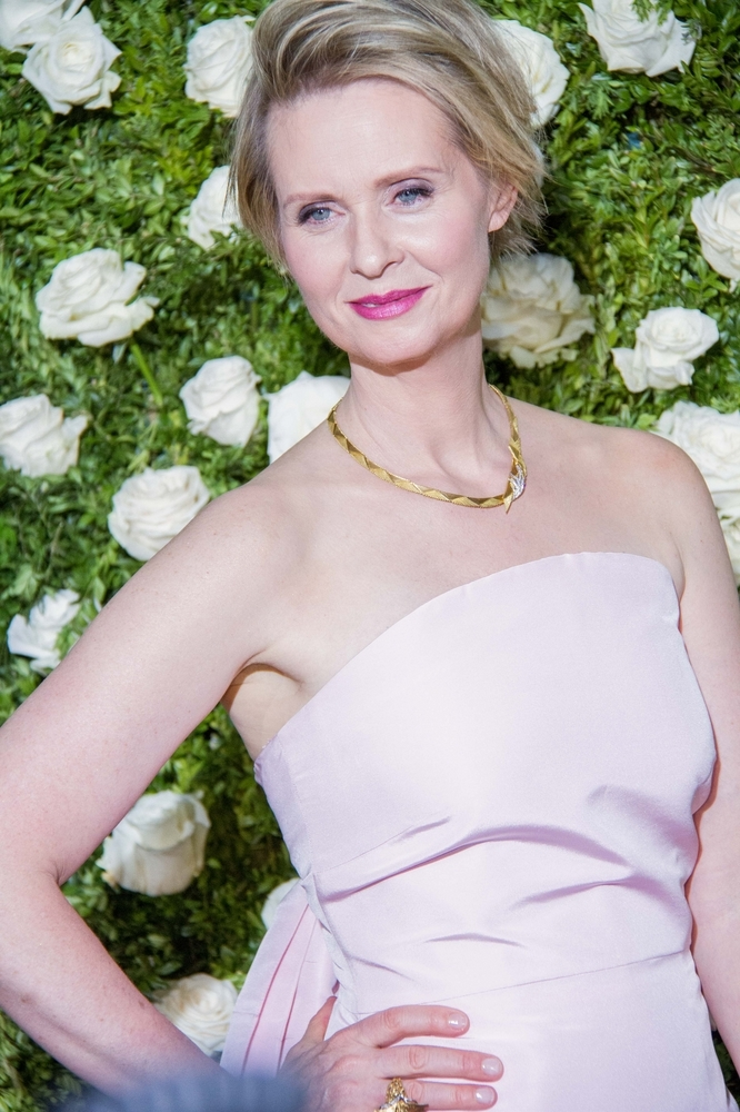 Cynthia Nixon of Sex & the City fame was diagnosed in 2006. She had a lumpectomy and radiation and is now cancer-free.