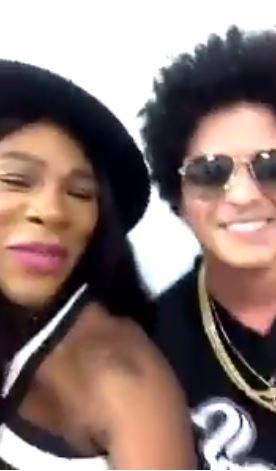 Serena Williams Snapchats Bruno Mars Turn Up & Spotted Wedding Planning!