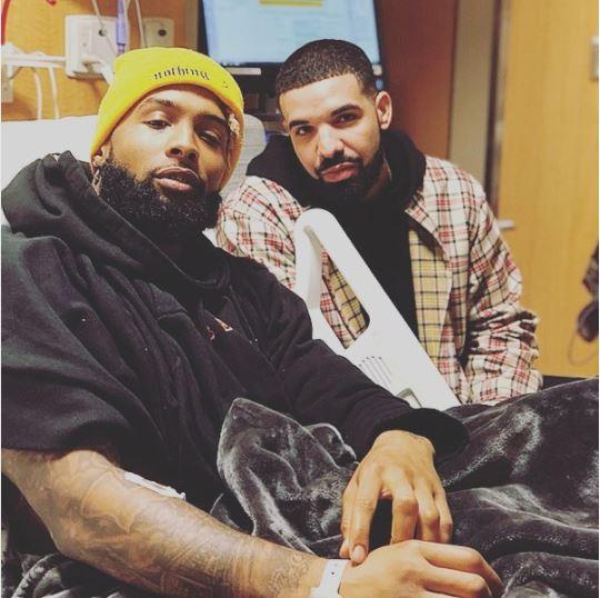 Drake Visits Odell Beckham Jr. In Hospital