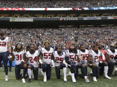 Houston Texans Participate In Anthem Protest After Owner S
