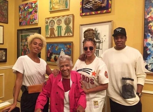 Jay-Z, Beyonce & Solange Spotted At Dooky Chase's In New Orleans