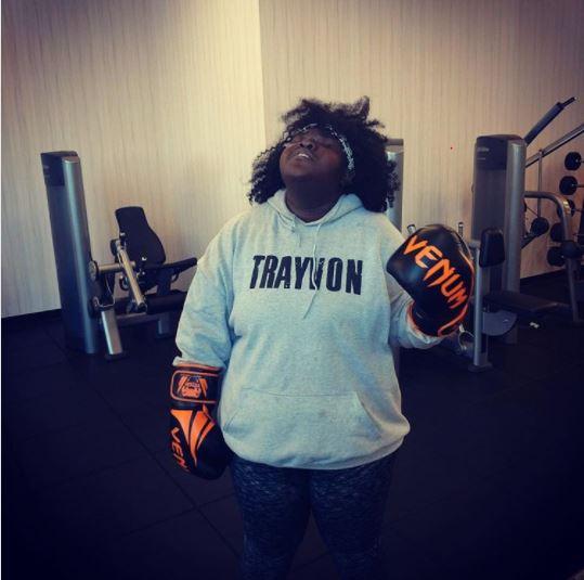 Gabby Sidibe Takes Politics To The Gym