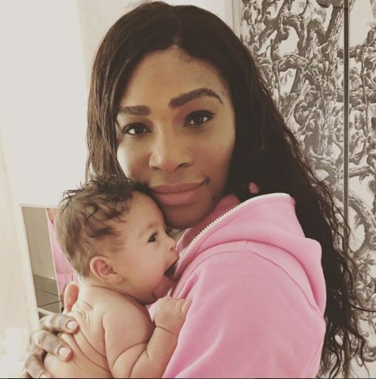 Flying High: Serena Williams & Daughter Board Private Jet