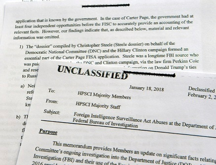House Republicans Release Partisan Memo On Russian Probe