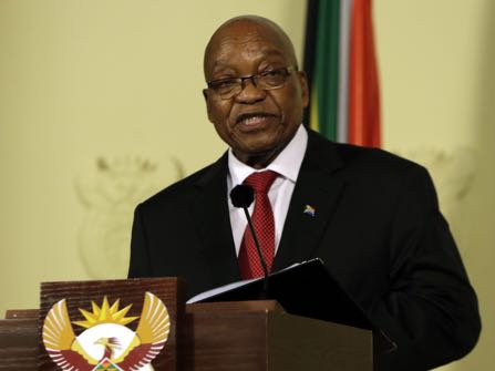 South African President Resigns Under Pressure