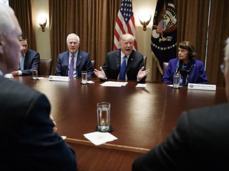 Trump Talks Tough On Gun Control, Then Backtracks