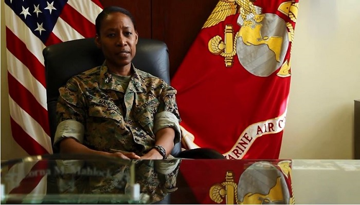 Black female marines