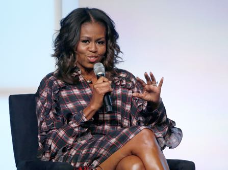 """""""Michelle Obama in Her Own Words: The Views and Values of America's First Lady"""" by Michelle Obama and Lisa Rogak"""