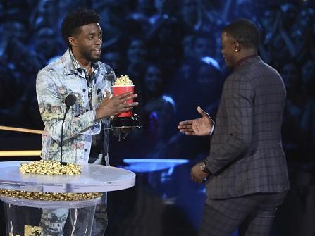Chadwick Boseman Honors Real-life Hero James Shaw Jr. At MTV Movie Awards