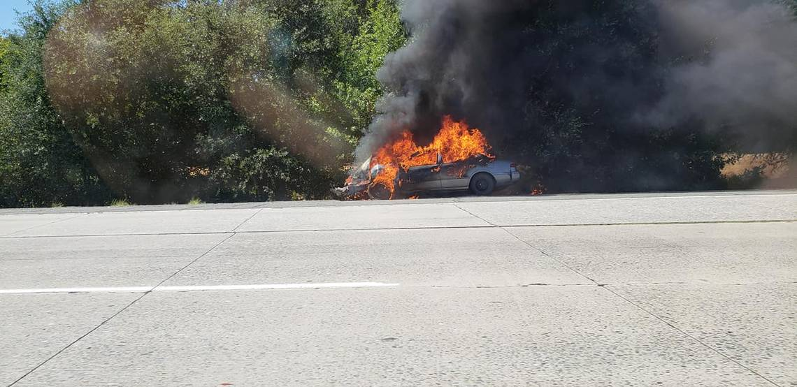Man Runs Back To Burning Car To Light Cigarette