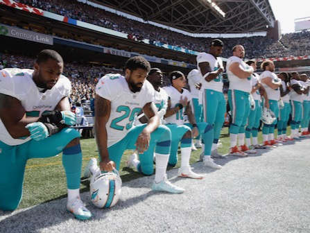 Miami Dolphins May Suspend Players Who Don't Stand For Anthem