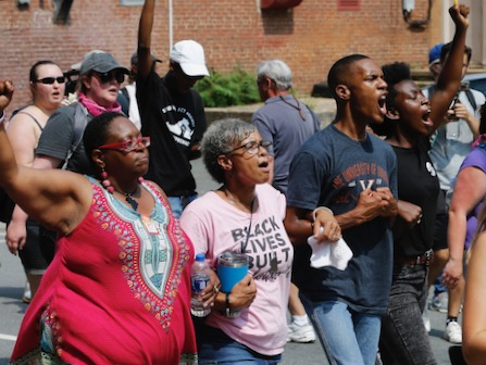 Activists March To Commemorate 1-Year Anniversary Of Charlottesville
