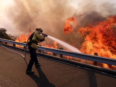 Southern California Wildfire Roars To Life In Wilderness
