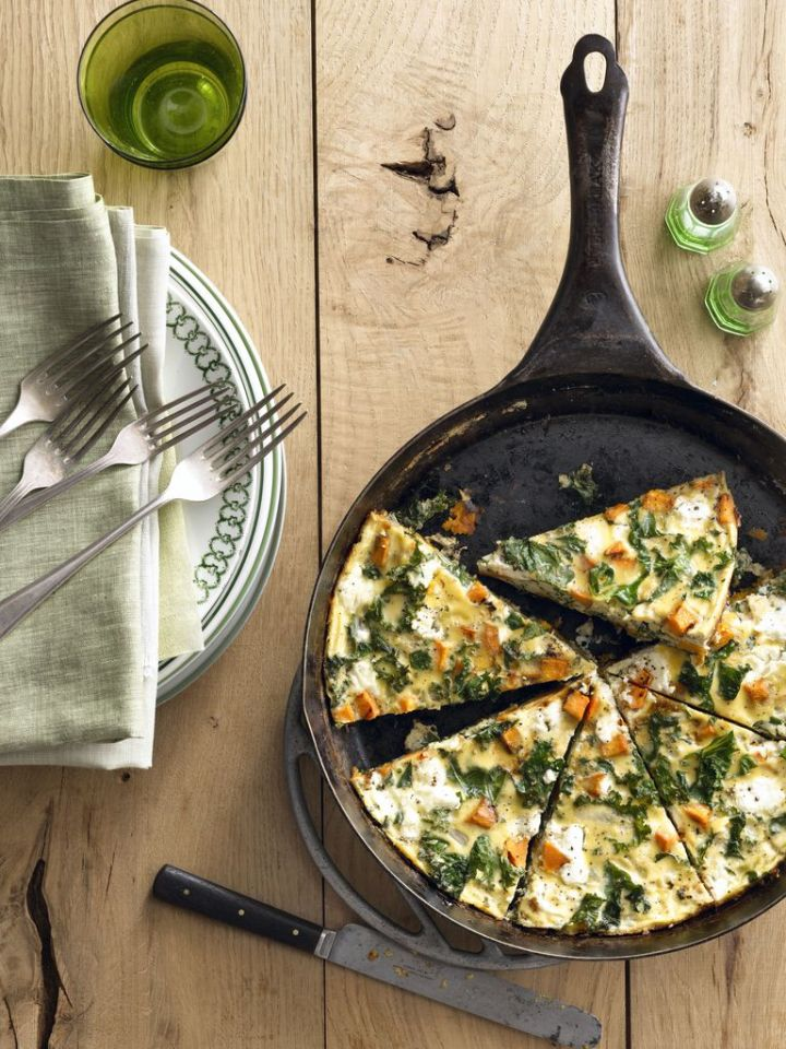 Sweet Potato Kale Frittata-Country Living