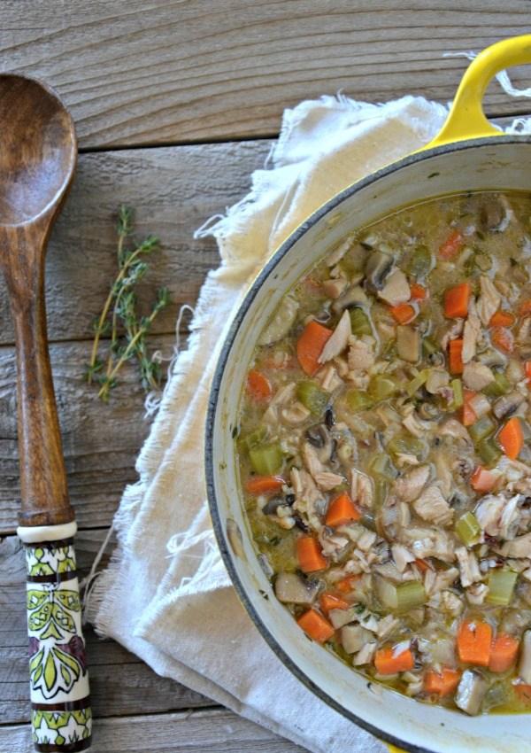 Turkey Wild Rice Soup- Mama Cooks