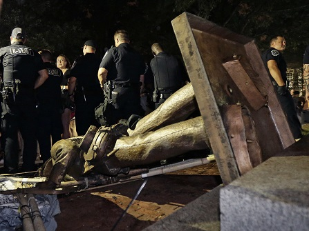 UNC Removes Confederate Pedestal From Campus Overnight