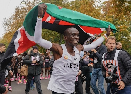 Kenyan Marathoner Kipchoge Runs Sub 2-Hour Marathon, But There's An Asterisk