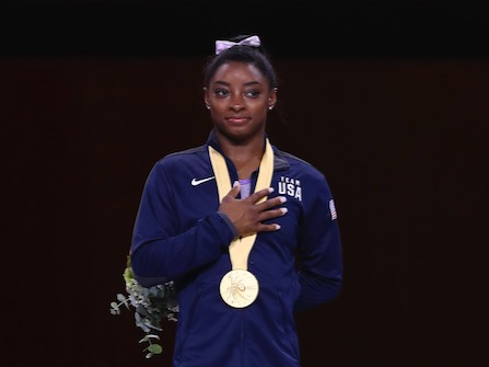 After Record World Medal Haul, Biles Is The Face Of 2020 Olympics